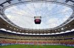Román-magyar - Edzés a labdarúgó-mérkõzés helyszínén Bu