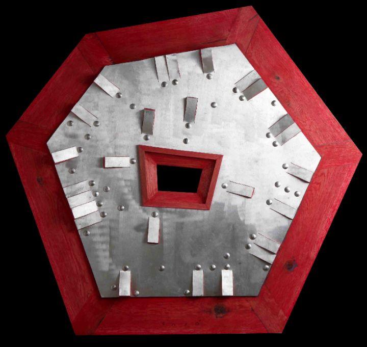 TAJO  - Disk gonal 92x98.x5 cm lemn-metal 2012