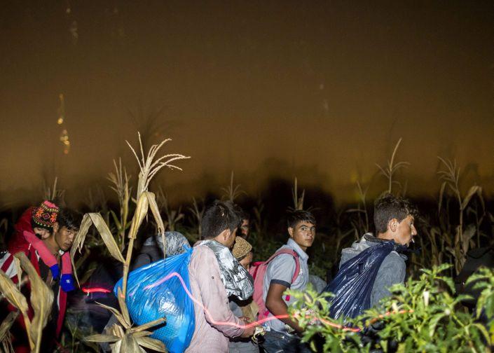 Illegális bevándorlás - Több száz migráns indult el a sín