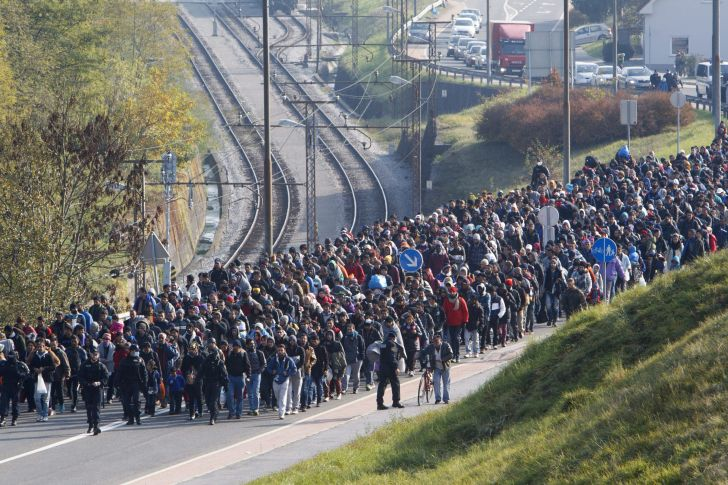 Illegális bevándorlás - Szlovén-osztrák határ